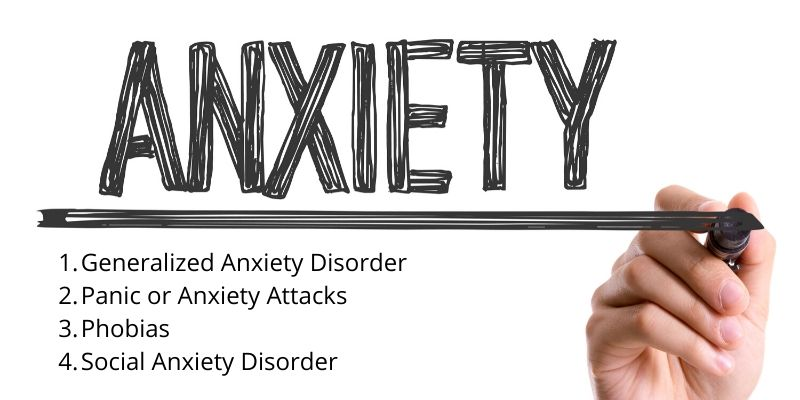4 types of anxiety