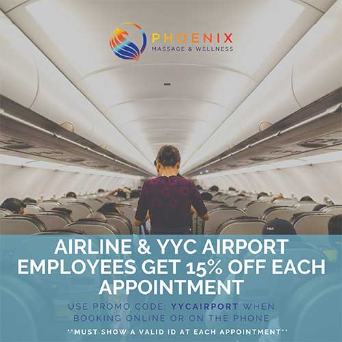 Airline and YYC Airport Employees Get 15% Off Each Appointment