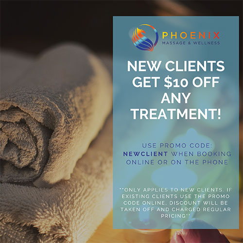 New Clients Get $10 Off Their First Massage