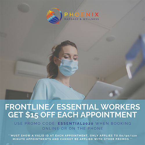Frontline/ Essential Workers Get $15 Off Each Appointment